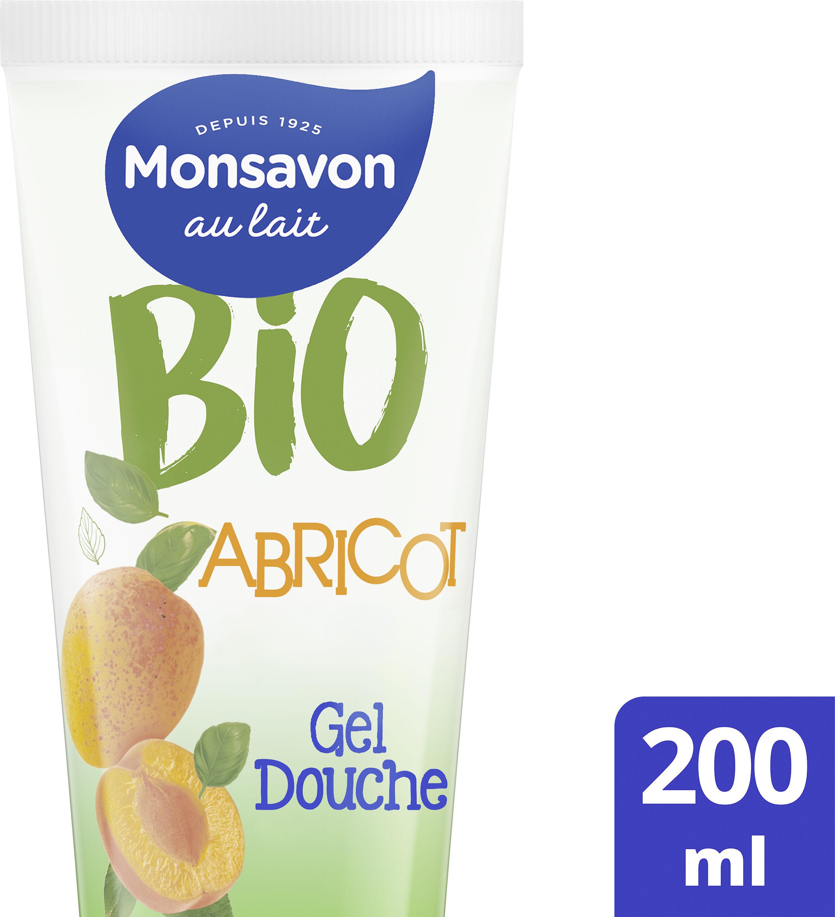 Monsavon Gel Douche Bio Hydratant Senteur Abricot Pointe de Basilic - Produit - fr