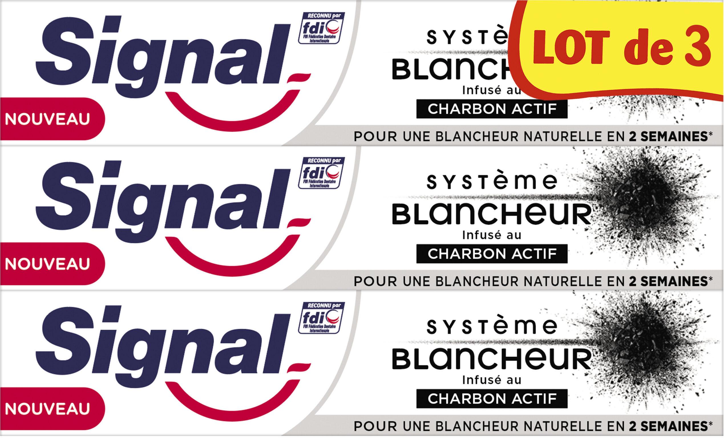 Signal Dentifrice Système Blancheur Charbon Actif 3x75ml - Produto - fr