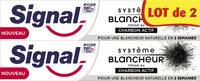 Signal Dentifrice Système Blancheur Charbon Actif 2x75ml - Produto - fr