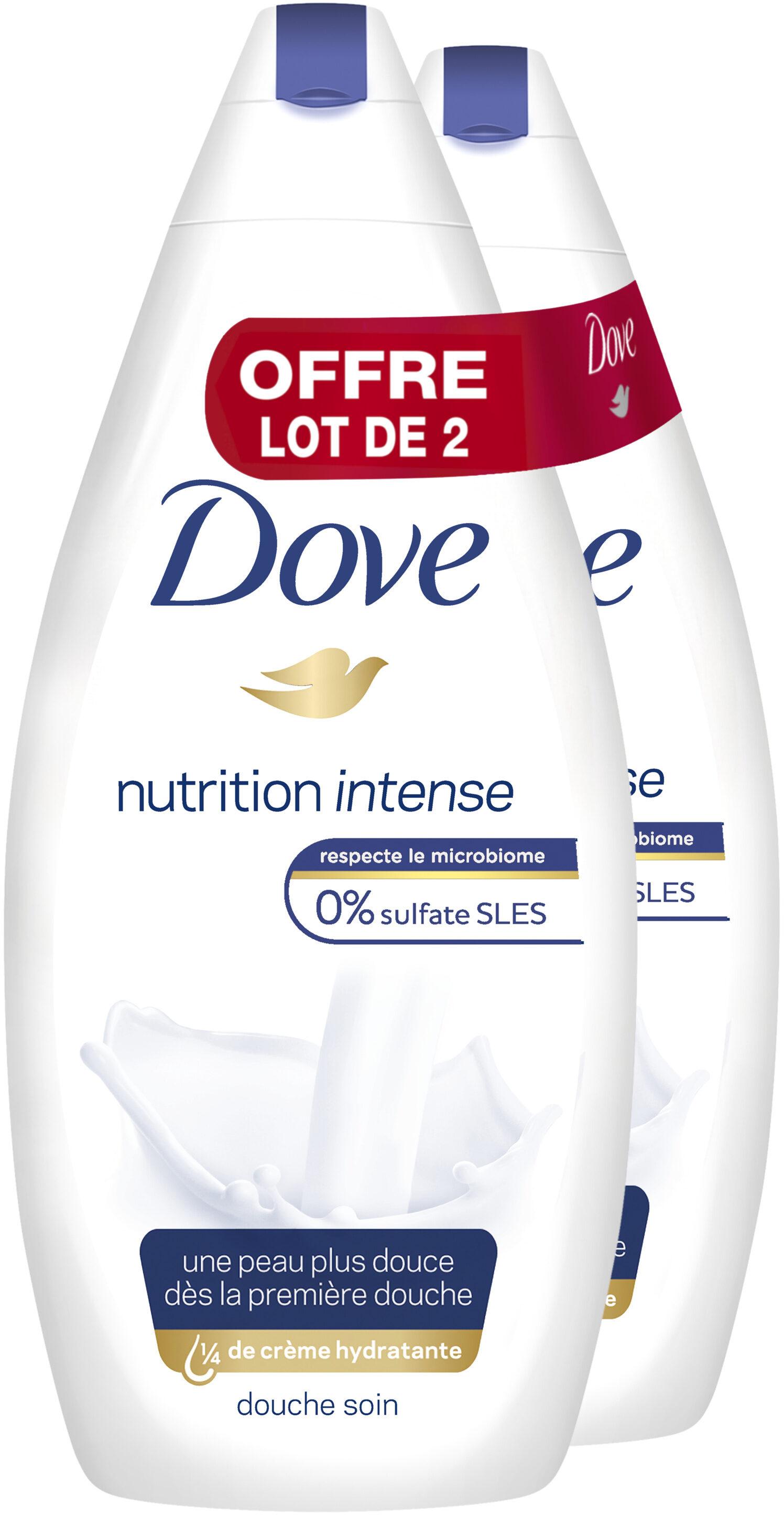Dove Gel Douche Nutrition Intense 750ml Lot de 2 - Product - fr