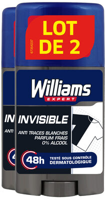 Williams Invisible Anti transpirant Protection 48h Lot 2x75ml - Produit - fr