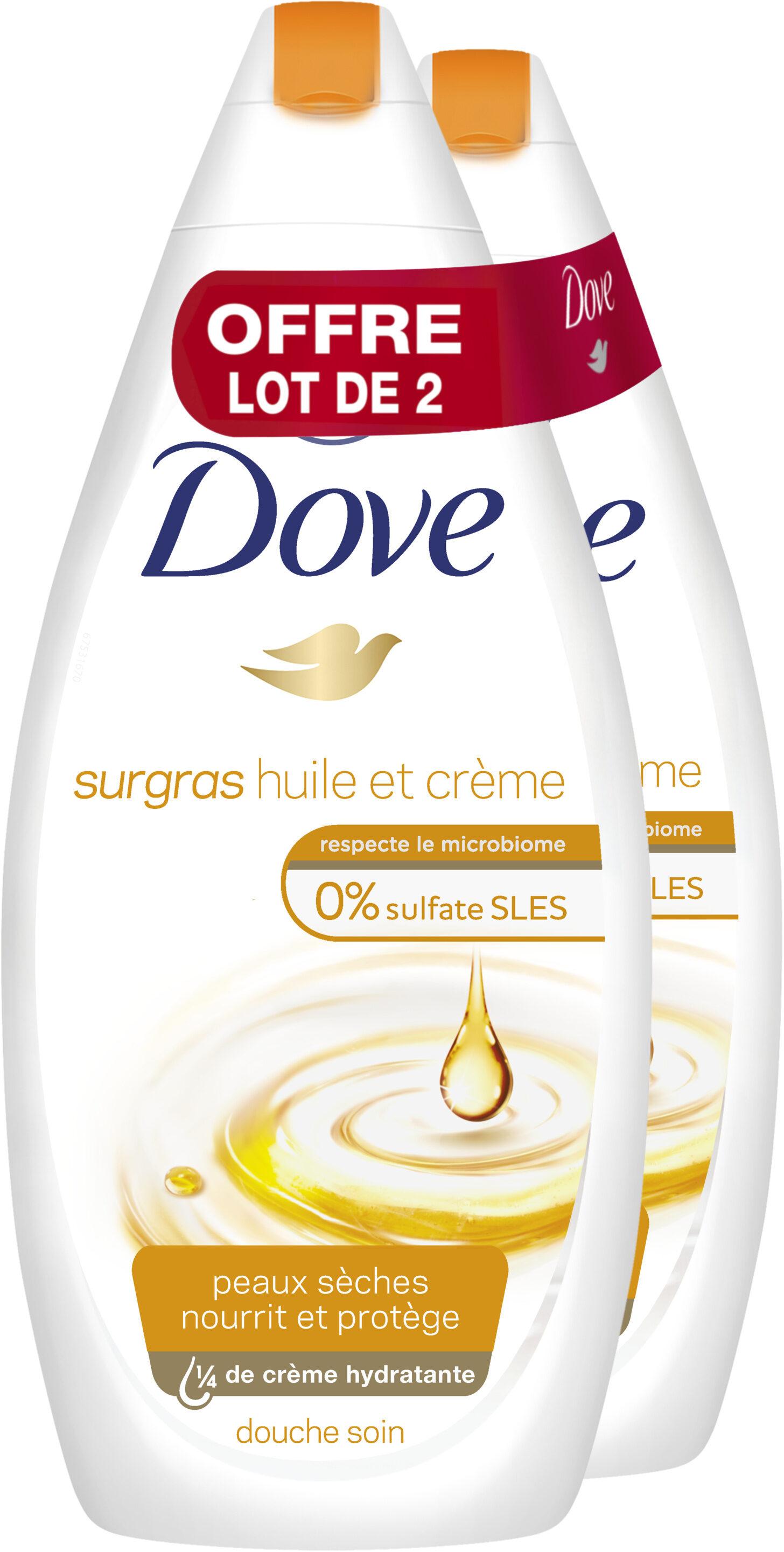 Dove Gel Douche Surgras Huile et Crème 750ml Lot de 2 - Product - fr