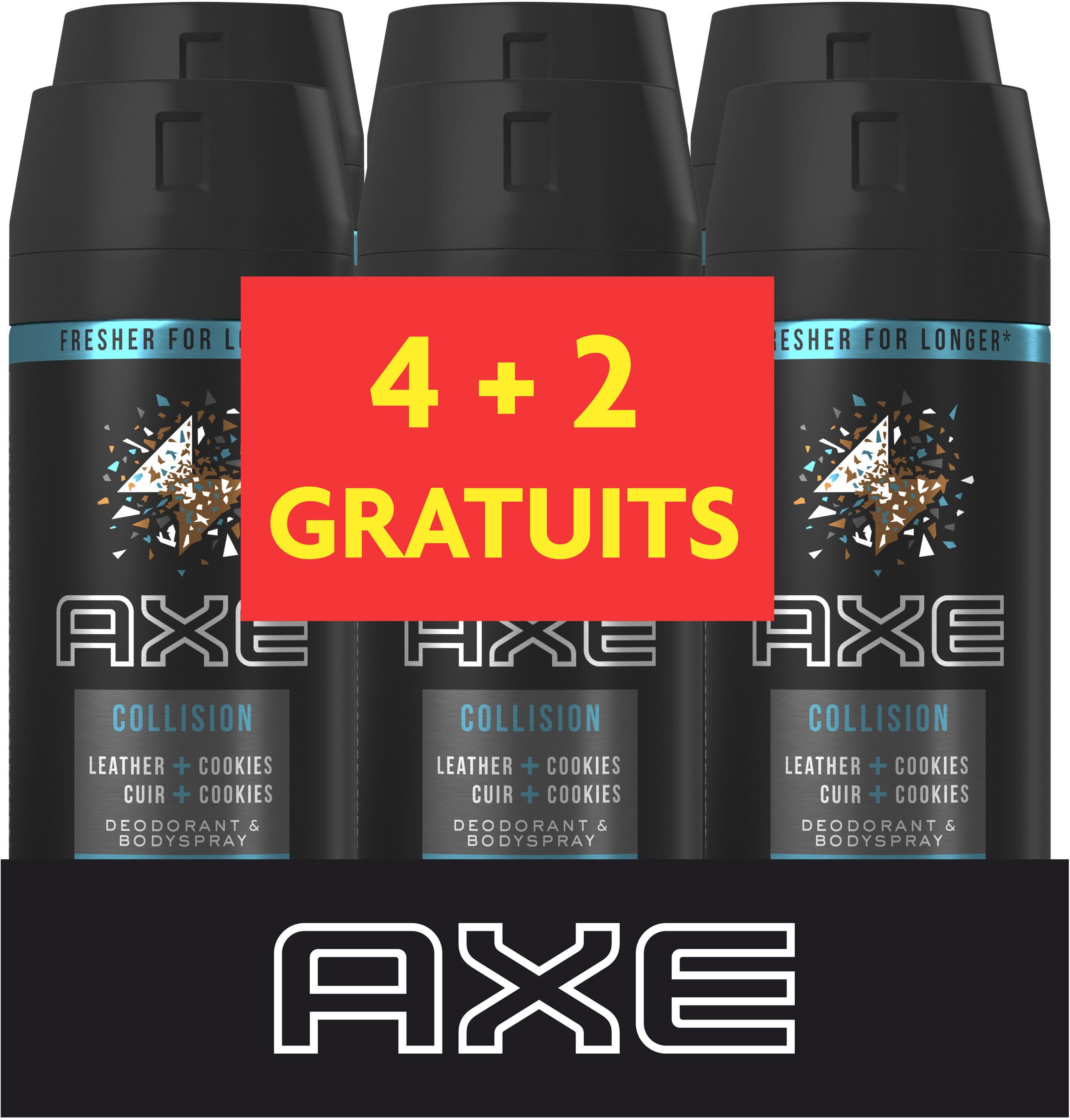 AXE Déodorant Homme Spray Cuir + Cookies Lot 6x150ml - Product - fr