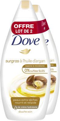 Dove Gel Douche Surgras à l'Huile d'Argan 750ml Lot de 2 - Product - fr