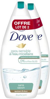 Dove Gel Douche Eau Micellaire Peau Sensible 400ml Lot de 2 - Product - fr