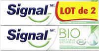 Signal Dentifrice Bio Fraîcheur Naturelle 2x75ml - Product - fr
