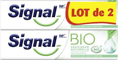 Signal Dentifrice Bio Fraîcheur Naturelle 2x75ml - Produit - fr