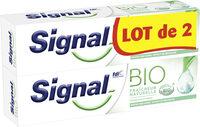 Signal Dentifrice Bio Fraîcheur Naturelle Lot 2x75ml - Product - fr