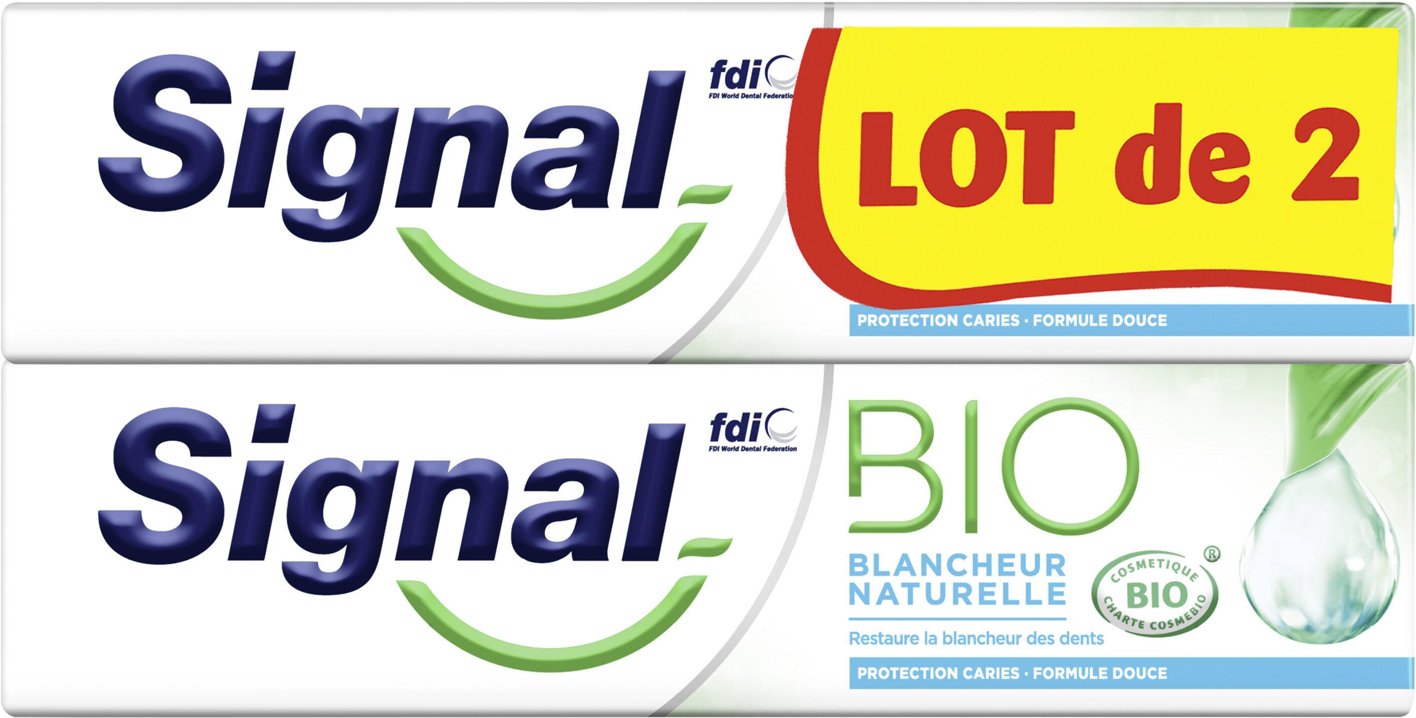 Signal Dentifrice Bio Blancheur Naturelle 2x75ml - Product - fr