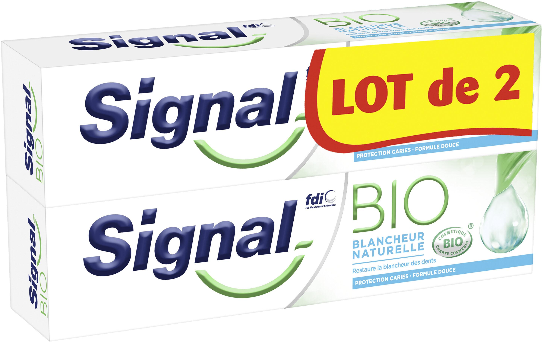 Signal Dentifrice Bio Blancheur Naturelle Lot de 2x75ml - Product - fr