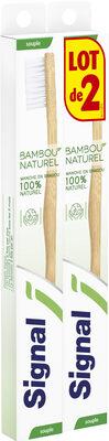 Signal Brosse à Dents Manuelle Manche en Bambou 100% Naturel Souple x2 - Product