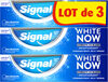 Signal White Now Dentifrice Original 3x75ml - Produit