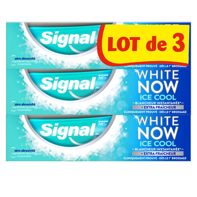 Signal White Now Dentifrice Ice Cool 3x75ml - 2