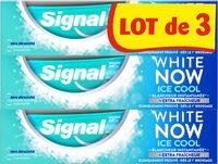 Signal White Now Dentifrice Ice Cool 3x75ml - Produto - fr