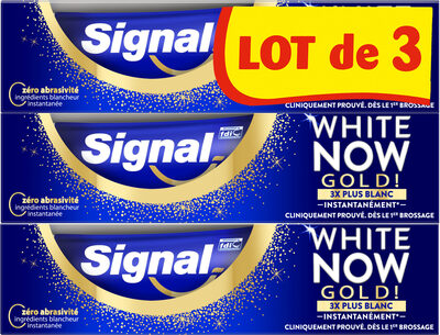 Signal White Now Dentifrice Gold 3x75ml - Product - fr