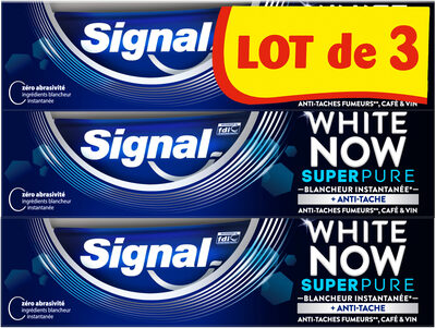 Signal White Now Dentifrice Super Pure 3x75ml - Product - fr
