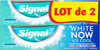 Signal White Now Dentifrice Ice Cool 2x75ml - Produto - fr