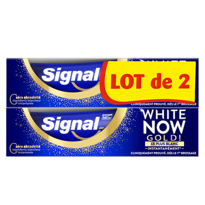 Signal White Now Dentifrice Gold 2x75ML - 1