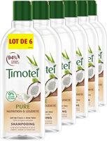 Timotei Pure Shampoing Femme Nutrition & Légèreté Cheveux Normaux au Lait de Coco et Aloe Vera Lot - Product - fr