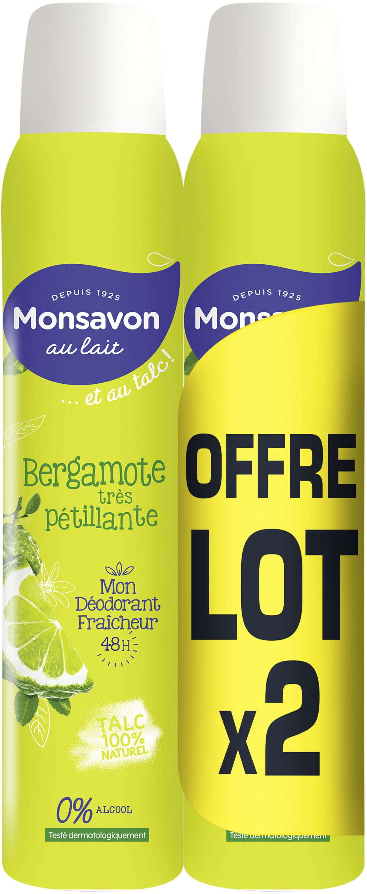 Monsavon Déodorant Femme Spray Bergamotte Lot 2x200ml - Produit - fr