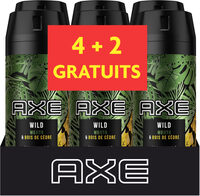 AXE Déodorant Homme Spray Wild Lot 6X150ml - Produit - fr