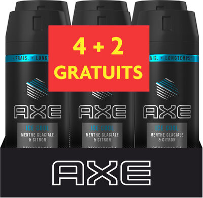 AXE Déodorant Homme Spray Menthe Glaciale & Citron Spray Lot 6x150ml - Produit - fr