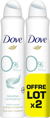 Dove Déodorant Femme Spray Sans Parfum Lot 2 x 200ml - Product - fr