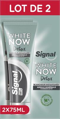 Signal White Now Dentifrice Détox Argile & Charbon Actif 2x75ml - Produit - fr