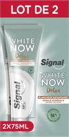 Signal White Now Dentifrice Détox Argile Minérale & Extrait de Coco Lot 2x75ml - Produit - fr