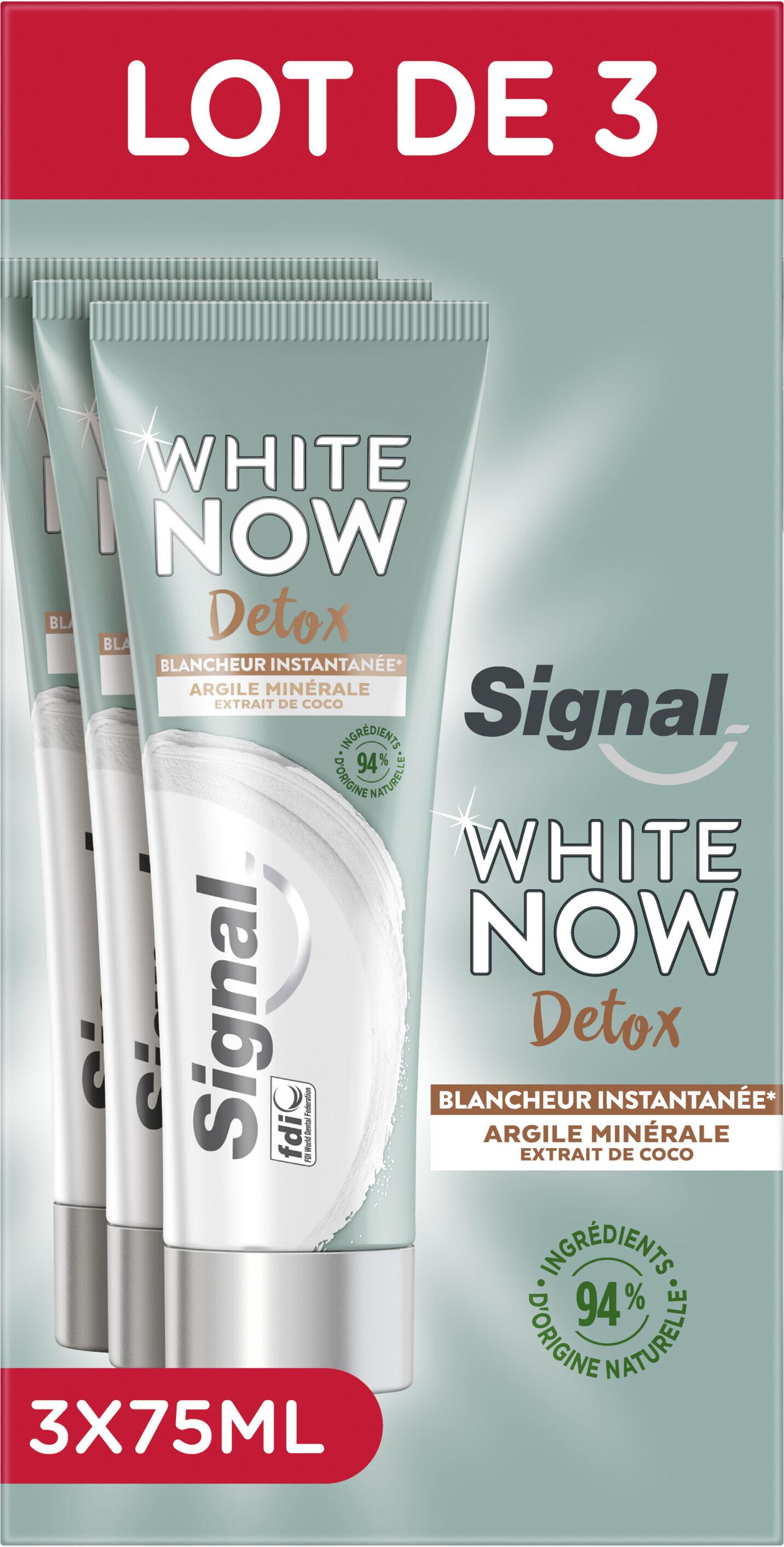 Signal White Now Dentifrice Détox Argile Minérale & Extrait de Coco Lot 3x75ml - Product - fr