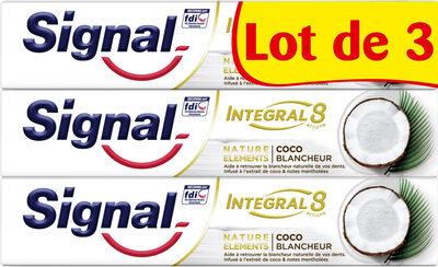 Signal Integral 8 Dentifrice Nature Elements Coco Blancheur 3x75ml - Produit - fr