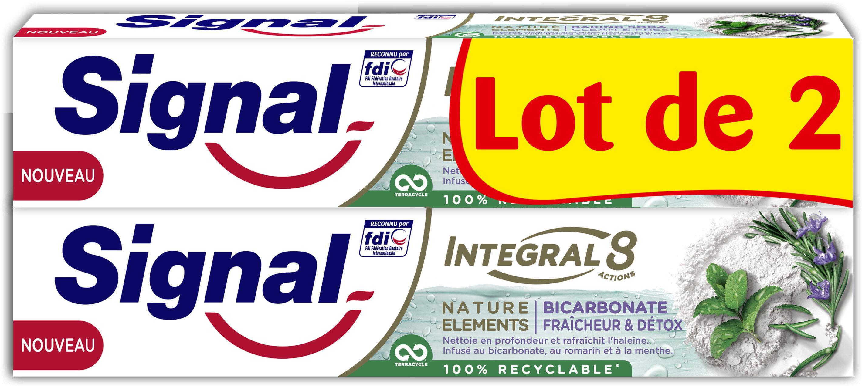 Signal Integral 8 Dentifrice Nature Elements Fraîcheur & Détox 2x75ml - Product - fr