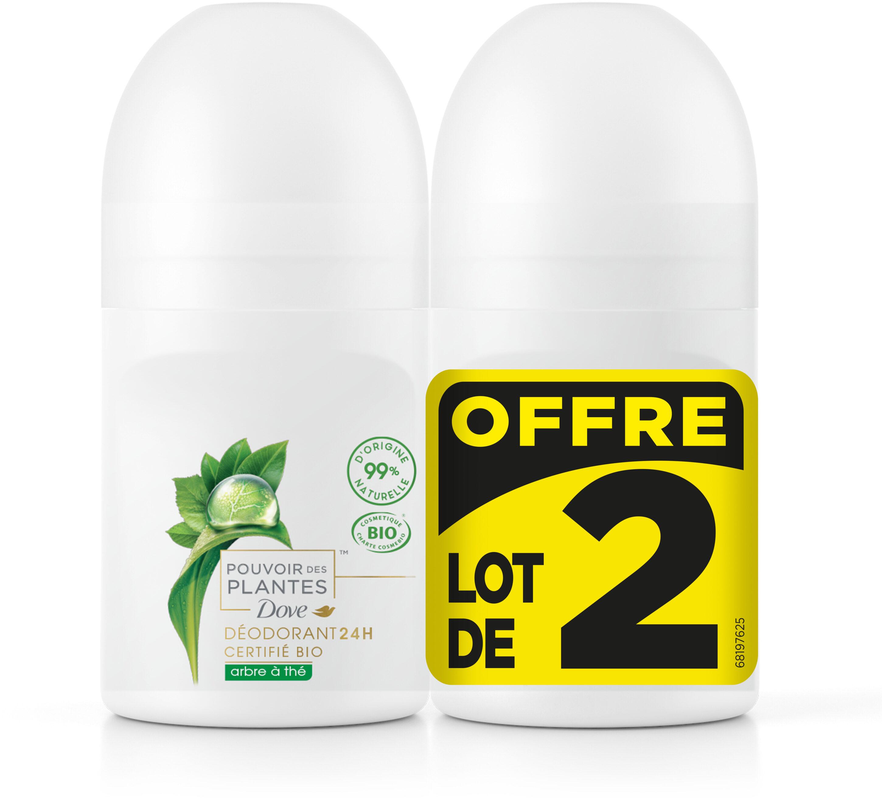 Dove Déodorant Femme Bille Pouvoir des Plantes Arbre à Thé 2x50ml - Product - fr