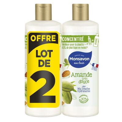 Monsavon Gel Douche Femme Concentré Amande Très Douce Lot 2x100ml - 1
