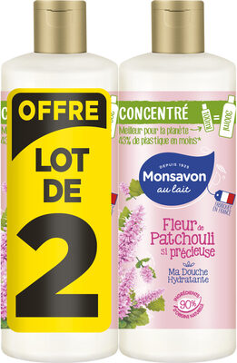 Monsavon Gel Douche Femme Concentré Perle Patchouli lot 2x100ml - Product - fr