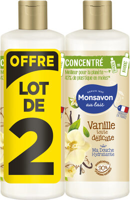 Monsavon Gel Douche Femme Concentré Vanille Lot 2x100ml - Product - fr