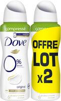 Dove Déodorant Compressé 0% Original Lot de 2x100ml - Product - fr