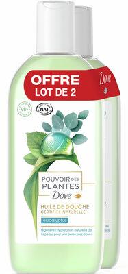 Dove Huile de Douche Pouvoir des Plantes Eucalyptus Lot 2x250ml - Product - fr
