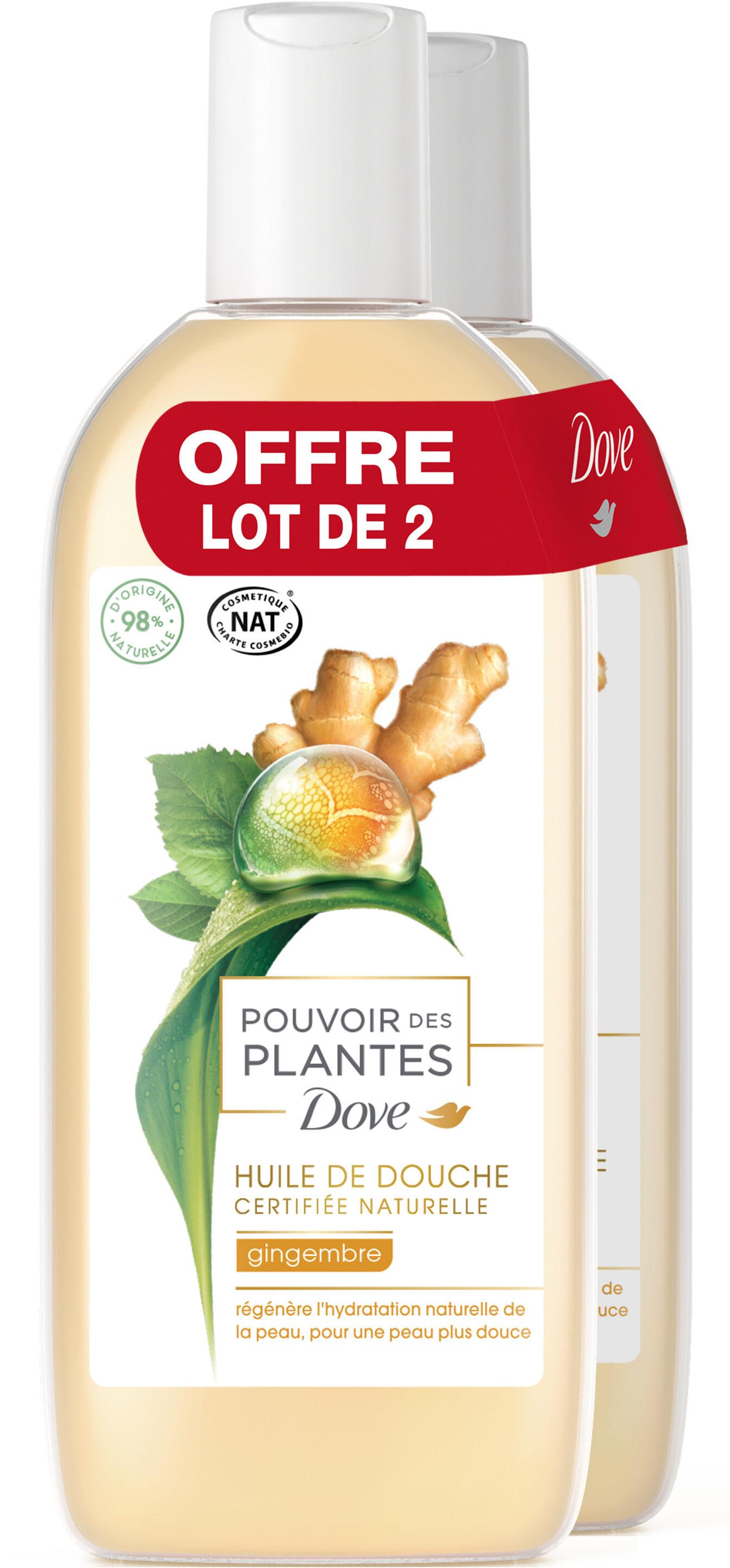 Dove Gel Douche Pouvoir des Plantes Gingembre Lot 2x250ml - Product - fr