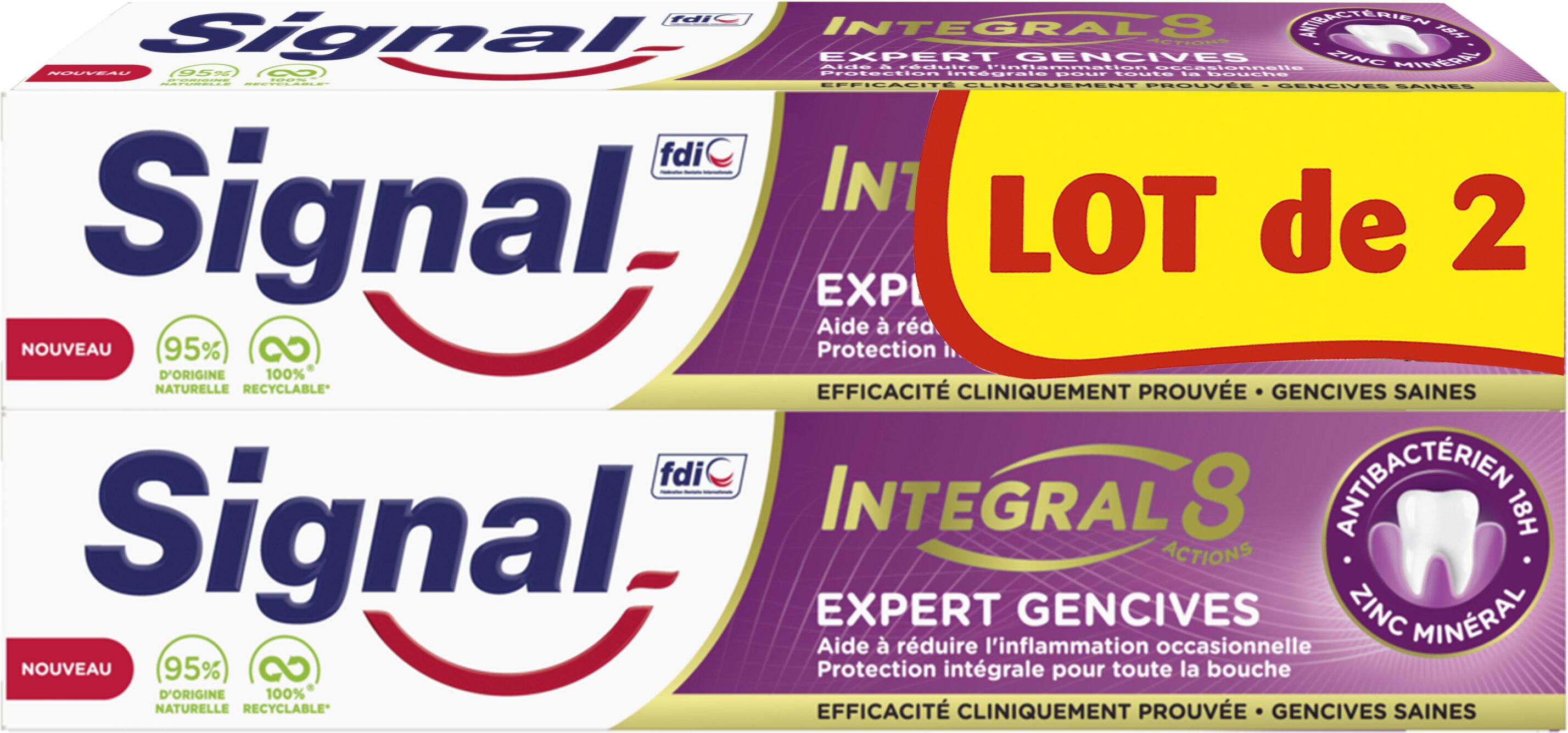 Signal Integral 8 Dentifrice Expert Gencives 2x75ml - Produit - fr