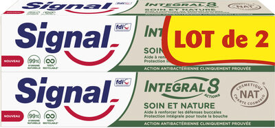 Signal Integral 8 Dentifrice Soin & Nature 2x75ml - Product - fr