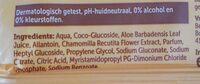 Babydoekjes - Ingredients - en