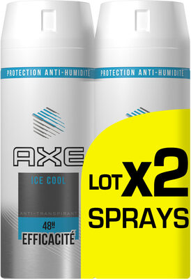 AXE Ice Cool Déodorant Homme Anti Transpirant Homme Menthe Glaciale & Citron Spray Lot 2x150ml - Produit - fr