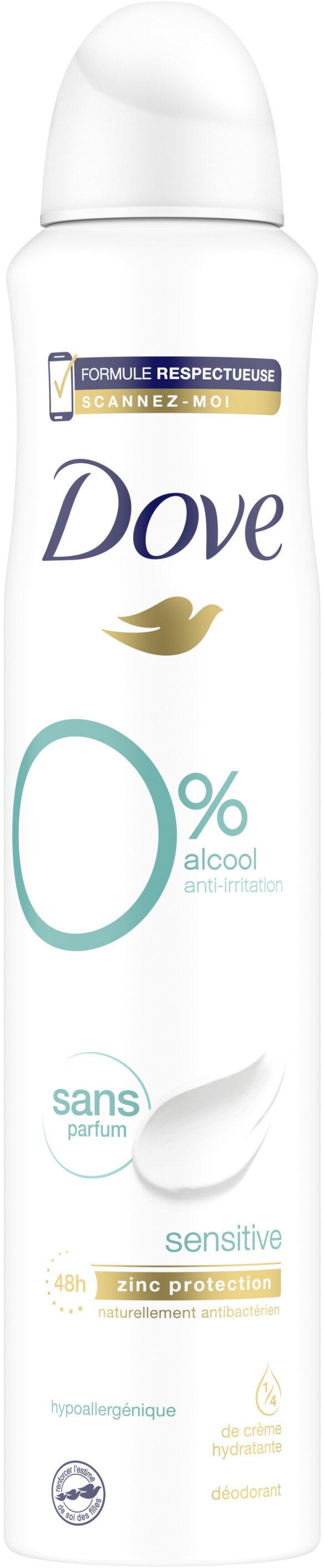 DOVE Déodorant Femme Spray Sensitive 0% Sans Parfum - Product - fr