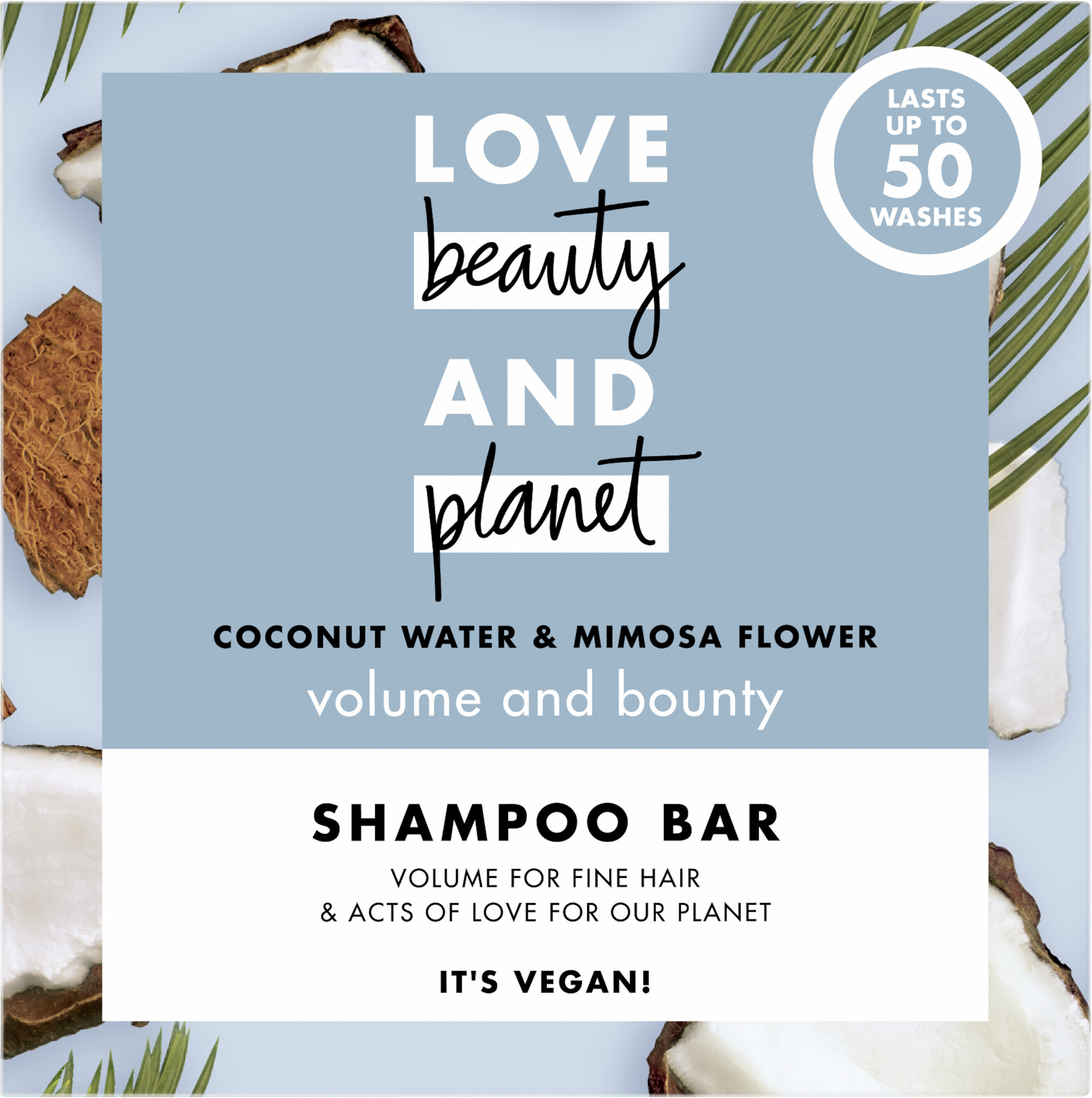 Love Beauty And Planet Shampooing Solide Vague Volumisante Eau de Coco & Fleur de Mimosa - Product - fr