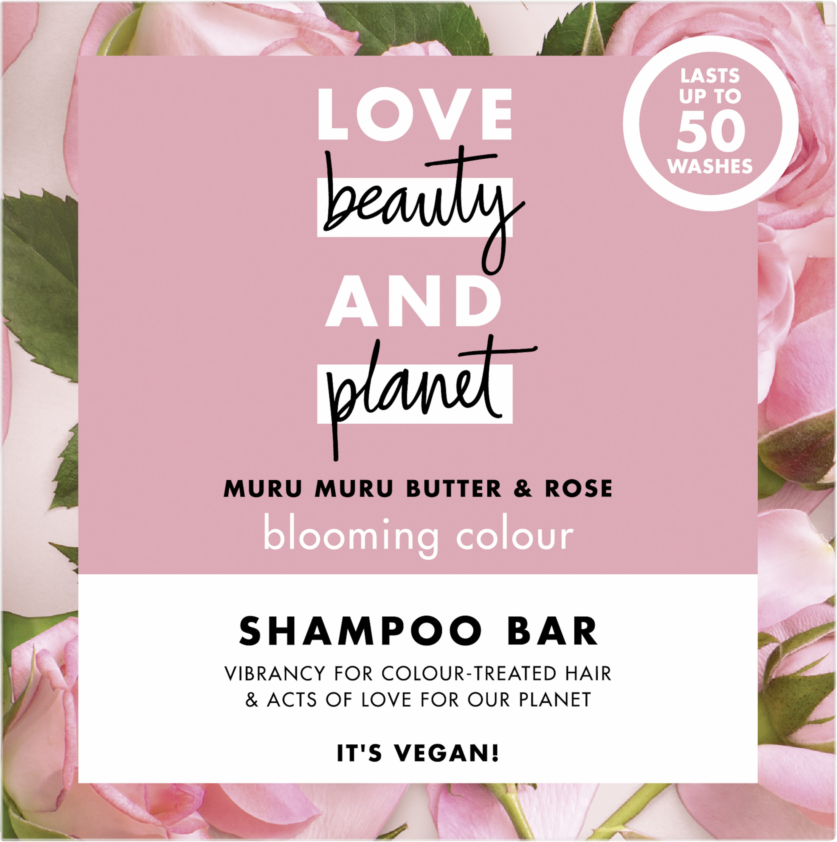 Love Beauty And Planet Shampooing Solide Éclosion de Couleur Muru Muru & Rose - Product - fr
