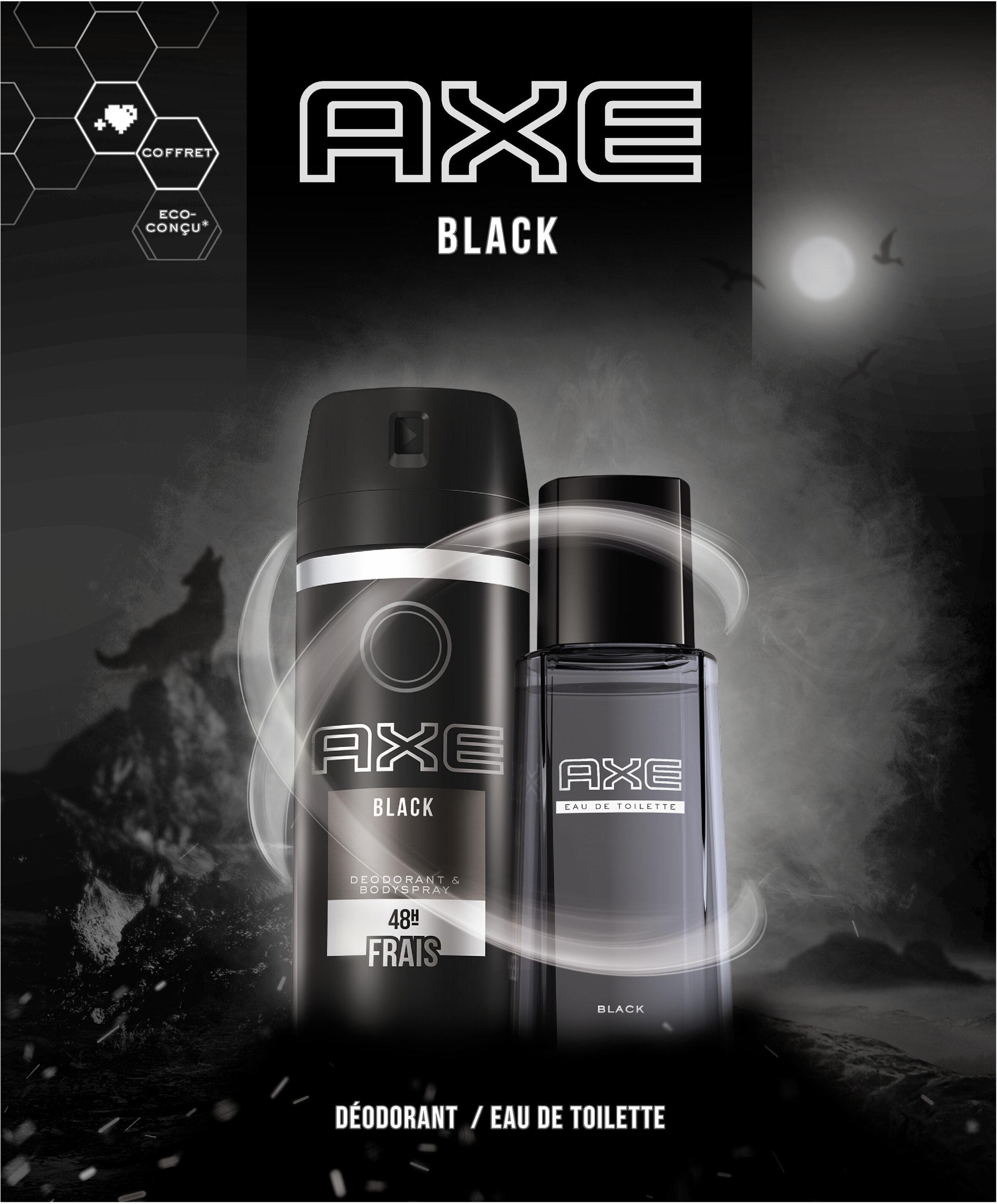 Axe Coffret Black Homme Eau de Toilette 100ml & Déodorant 150ml x1 - Produit - fr