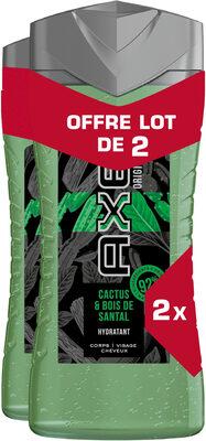 AXE Gel Douche Homme 3en1 Cactus & Bois de Santal 2x250ml - Product - fr
