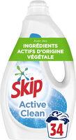 Skip Lessive Liquide Active Clean 1,7l - 34 Lavages - Produit - fr