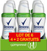 REXONA Déodorant Femme Spray Anti Transpirant Invisible Aqua Compressé 100ml Lot de 6 - Product